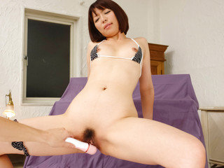 Izumi Manaka fucked by a hot toy in the doggystyle and facialized