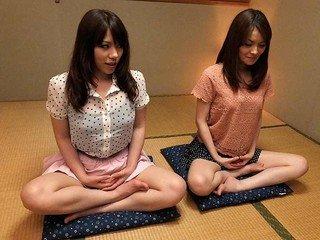 Anna Kirishima and Kana Suzuki fucked at yoga
